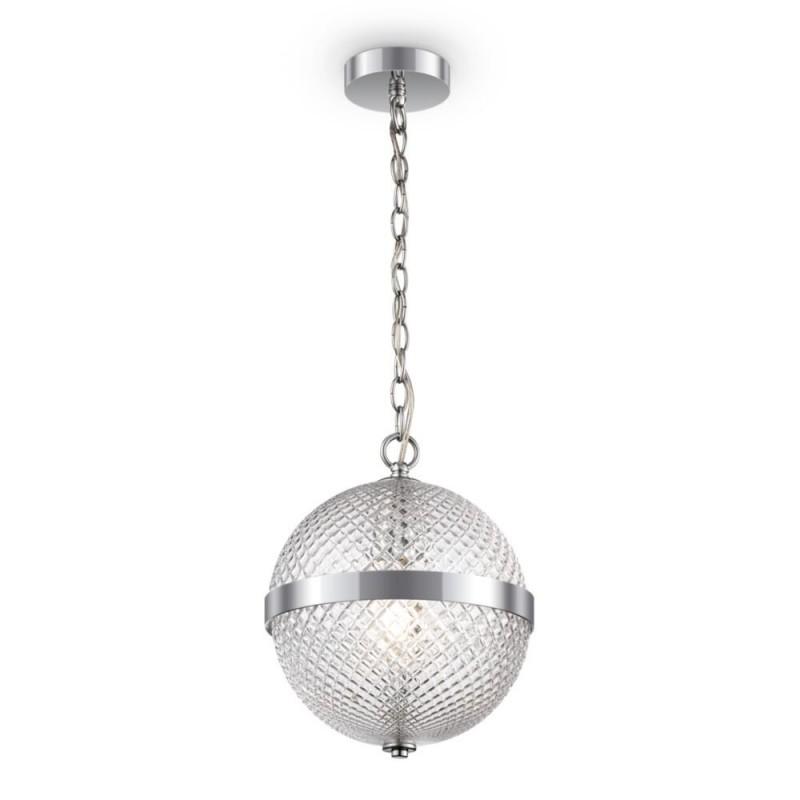 Maytoni-P004PL-01CH - Yonkers - Decorative Clear Globe & Chrome Single Pendant