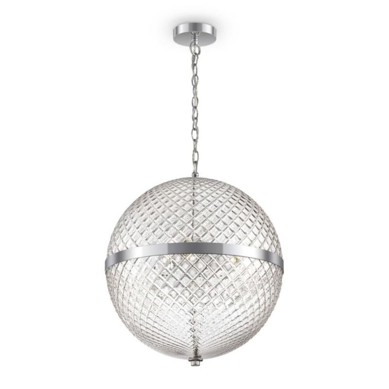Maytoni-P004PL-03CH - Yonkers - Decorative Clear Globe & Chrome 3 Light Pendant