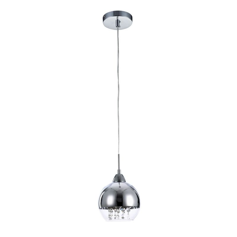 Maytoni-P012-PL-01-N - Iceberg - Clear & Mirrored Glass with Crystal Pendant