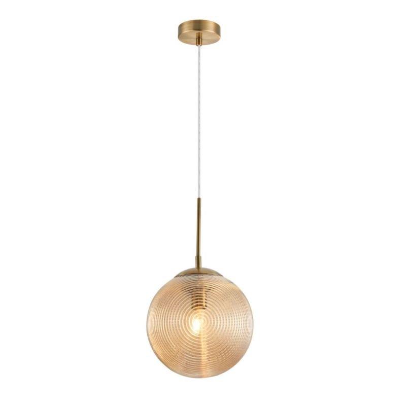 Maytoni-P031PL-01BS - Lumina - Decorative Amber Glass & Antique Brass Pendant