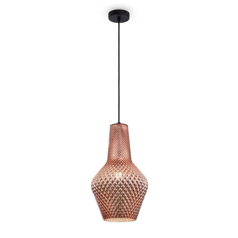 Maytoni-P056PL-01B - Tommy - Copper Textured Glass Big Pendant