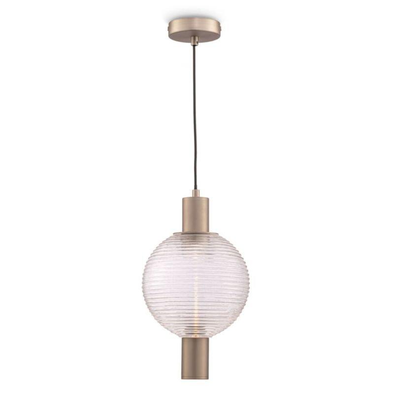 Maytoni-P060PL-01N - Rueca - Decorative Glass & Matt Nickel Single Pendant