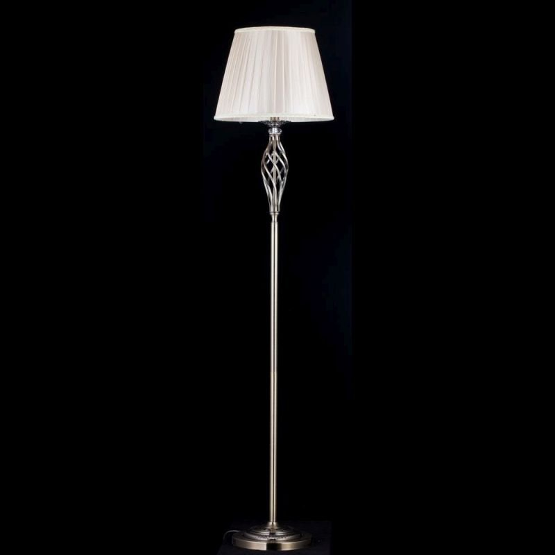 Maytoni-RC247-FL-01-R - Grace - Beige Organza and Brass Floor Lamp
