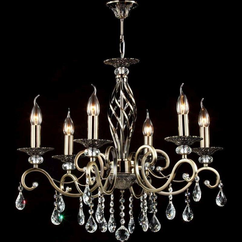 Maytoni-RC247-PL-06-R - Grace - Brass with Crystal 6 Light Hanging Pendant