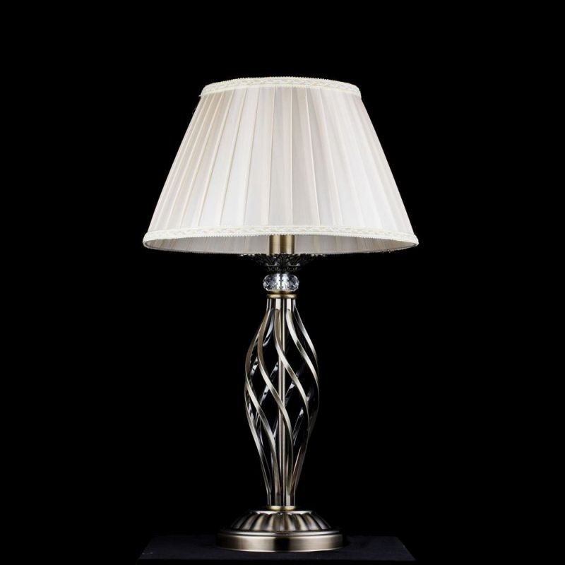 Maytoni-RC247-TL-01-R - Grace - Beige Organza and Brass Table Lamp
