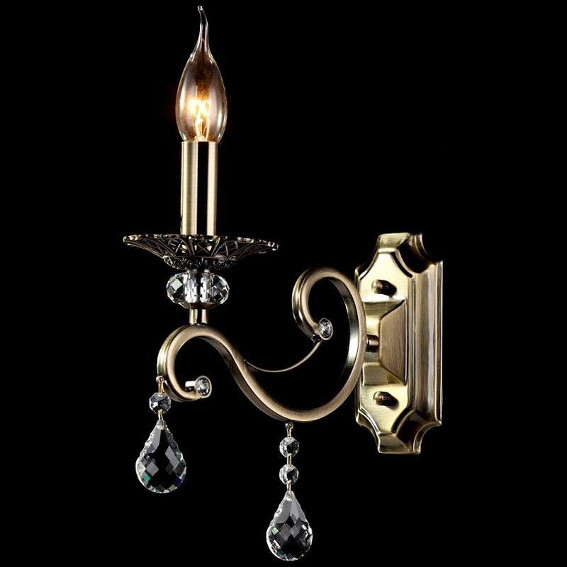 Maytoni-RC247-WL-01-R - Grace - Brass with Crystal Single Wall lamp