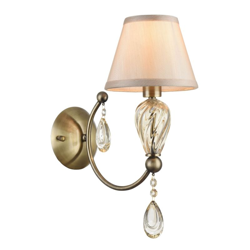 Maytoni-RC855-WL-01-R - Murano - Fabric Wall Lamp - Drops with Silhouette