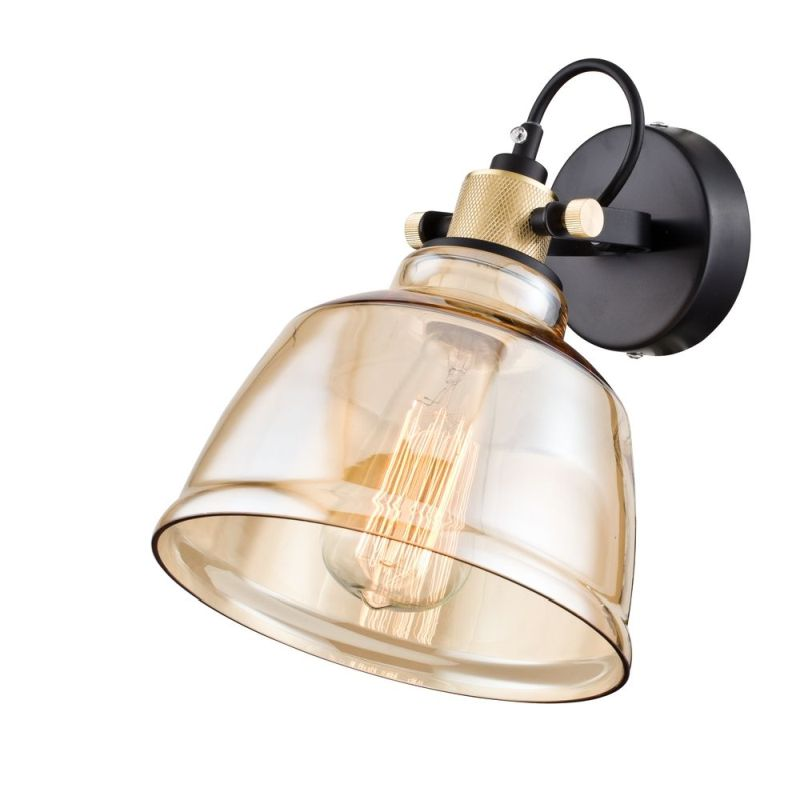 Maytoni-T163-01-R - Irving - Single Wall Lamp with Amber Glass