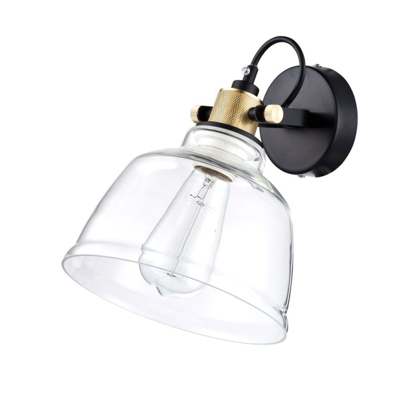 Maytoni-T163-01-W - Irving - Single Wall Lamp with Transparent Glass