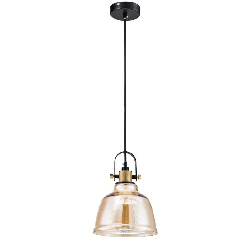 Maytoni-T163-11-R - Irving - Single Pendant with Amber Glass