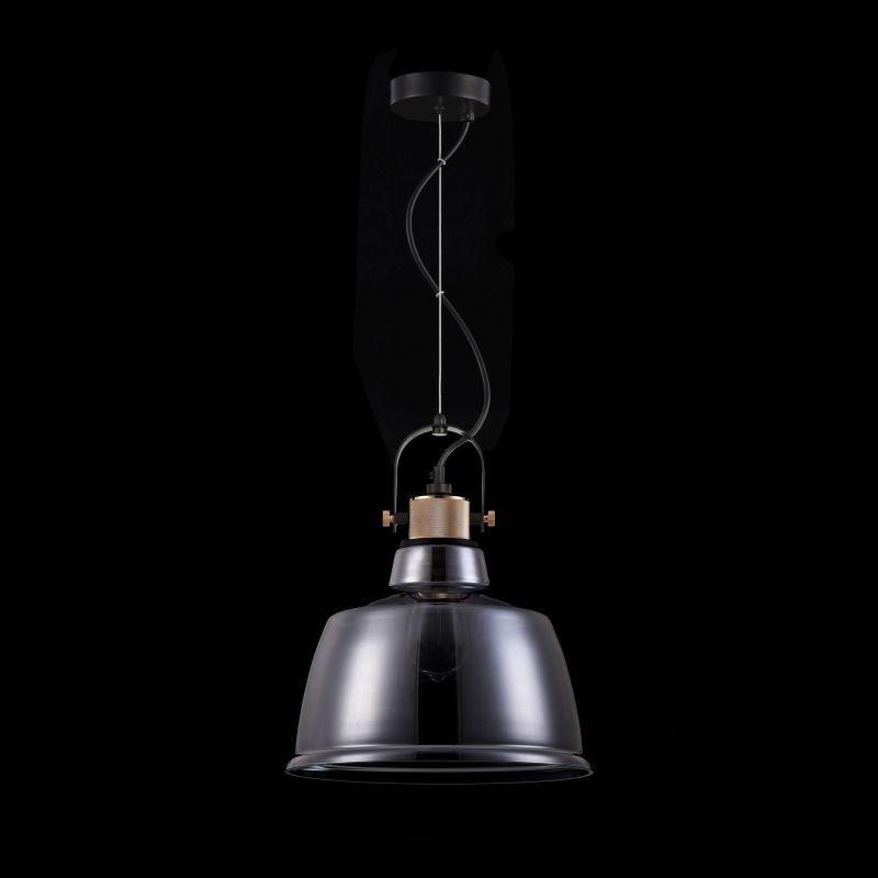 Maytoni-T163PL-01C - Irving - Big Single Pendant with Smoked Glass