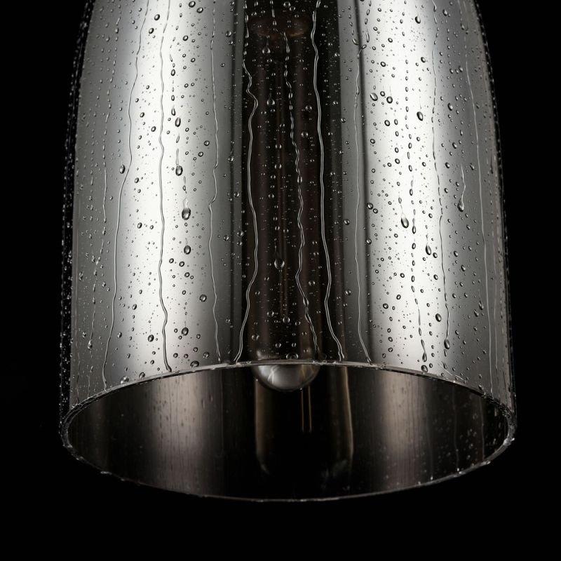 Maytoni-T314-00-B - Bergen - Single Pendant with Matt Smoky Glass- Wet Drops