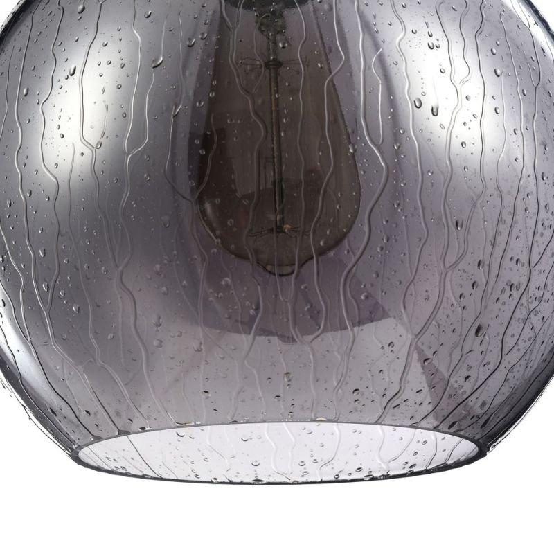 Maytoni-T314-11-B - Bergen - Single Pendant with Matt Smoky Glass- Wet Drops