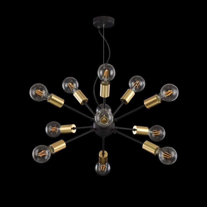 Maytoni-T546PL-12B - Jackson - Black with Gold 12 Light Centre Fitting