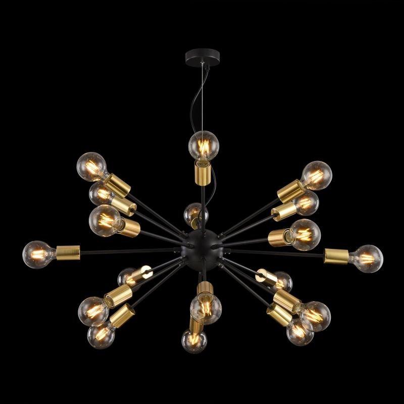 Maytoni-T546PL-18B - Jackson - Black with Gold 18 Light Centre Fitting
