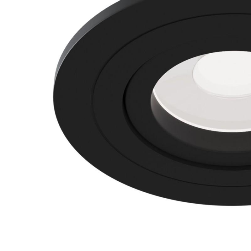 Maytoni-DL023-2-01B - Atom - Adjustable Matt Black Recessed Downlight Ø 9.2 cm