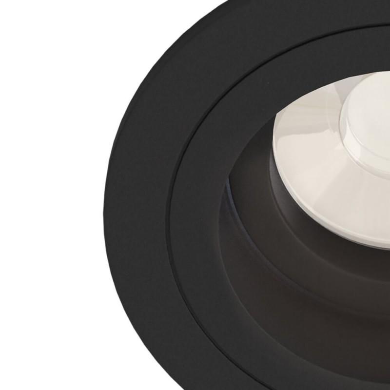 Maytoni-DL025-2-01B - Atom - Adjustable Matt Black Recessed Downlight Ø 9.2 cm