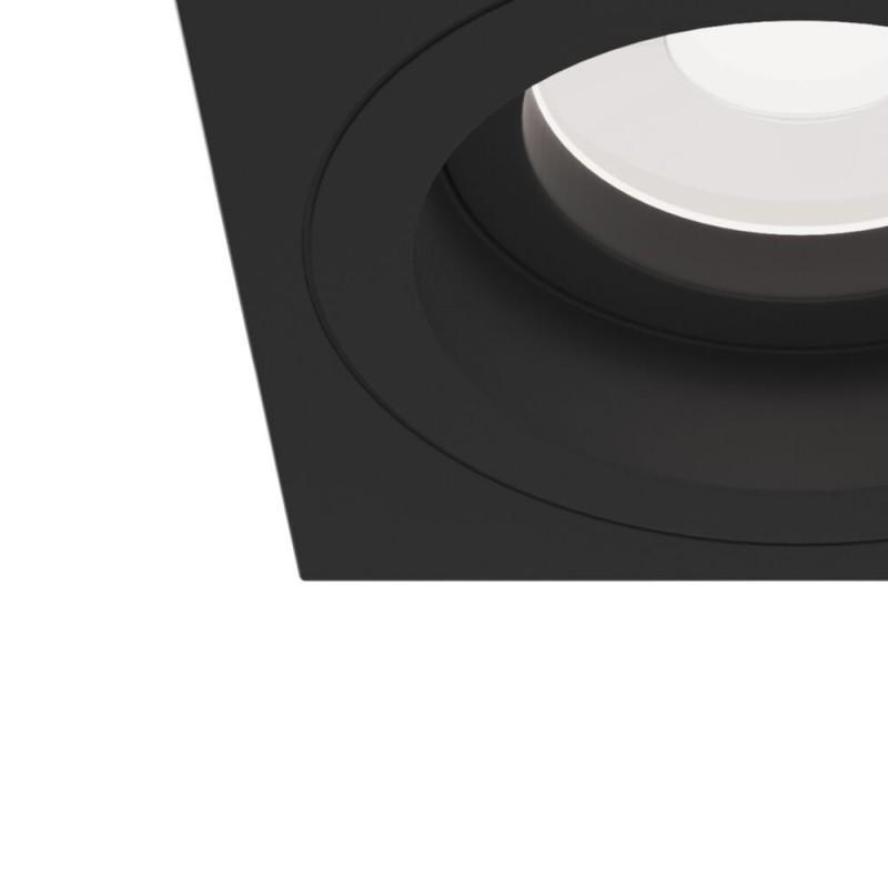 Maytoni-DL026-2-01B - Atom - Adjustable Square Matt Black Recessed Downlight 9.2 cm