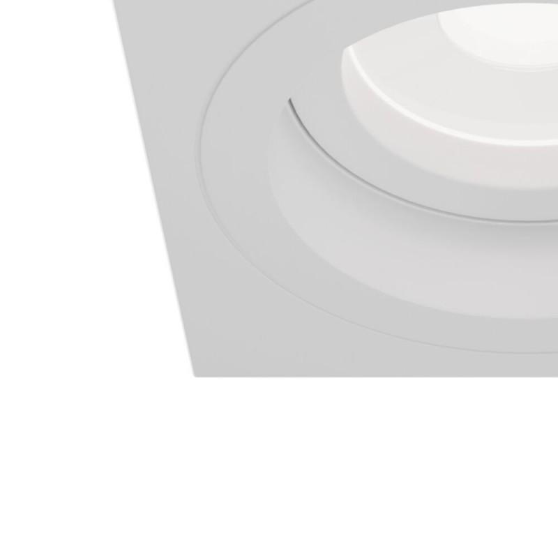 Maytoni-DL026-2-01W - Atom - Adjustable Square White Recessed Downlight 9.2 cm