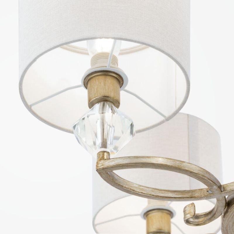 Maytoni-H006PL-05G - Luxe - Cream Shade & Antique Gold 5 Light Pendant
