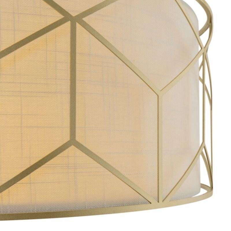 Maytoni-H223PL-03G - Messina - Linen Shade & Gold 4 Light Pendant
