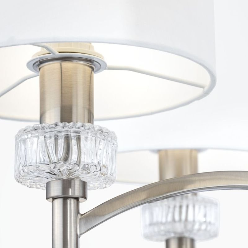 Maytoni-MOD014CL-06N - Alicante - White Shade & Nickel 6 Light Centre Fitting