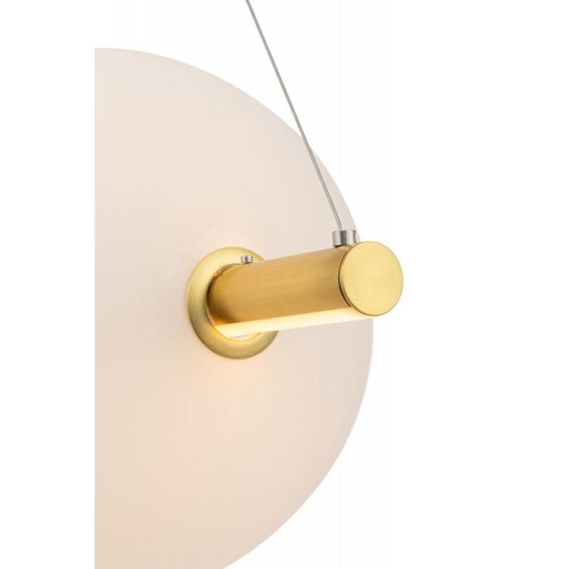 Maytoni-MOD063PL-L30G3K - Freccia - LED White Glass & Gold over Island Fitting