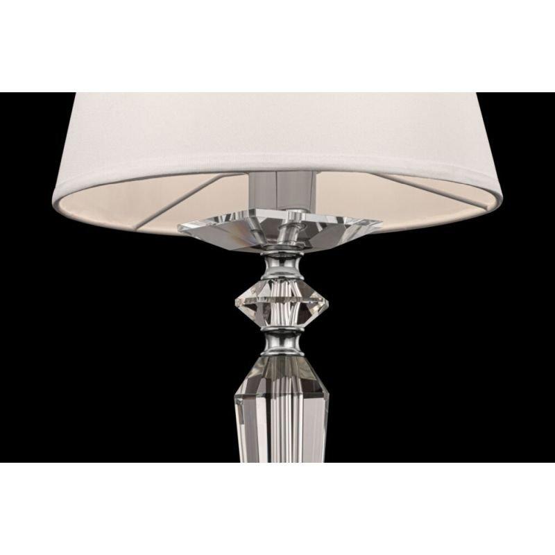 Maytoni-MOD064TL-01N - Beira - White Fabric Shade & Nickel Table Lamp