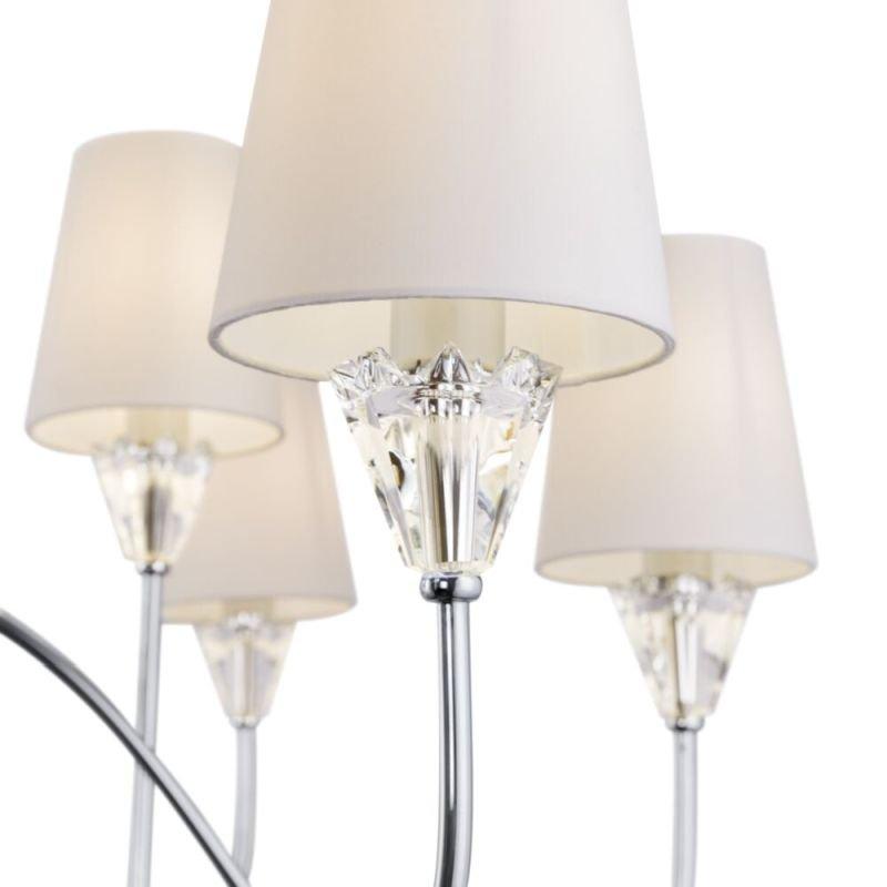 Maytoni-MOD078PL-12CH - Florero - White Fabric Shade & Chrome 12 Light Centre Fitting