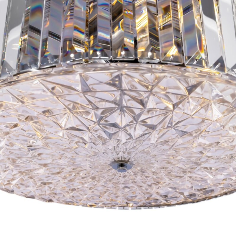 Maytoni-MOD080CL-08CH - Recinto - Crystal & Chrome 8 Light Pendant with Decorative Diffuser