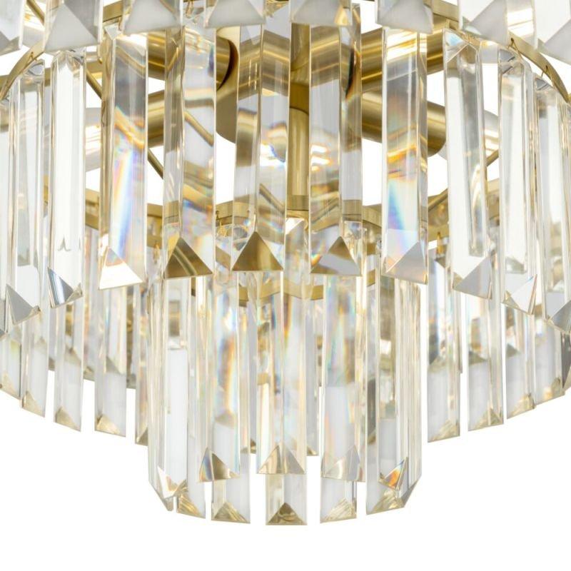 Maytoni-MOD085PL-07BS - Revero - Crystal & Painted Gold 7 Light Chandelier