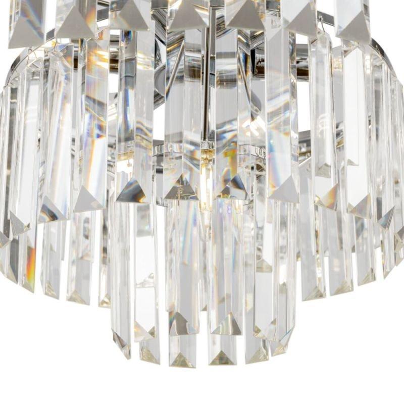 Maytoni-MOD085PL-07CH - Revero - Crystal & Painted Chrome 7 Light Chandelier