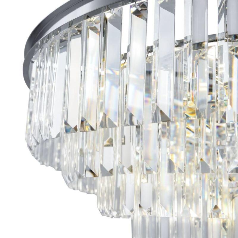Maytoni-MOD085PL-16CH - Revero - Crystal & Painted Chrome 16 Light Chandelier