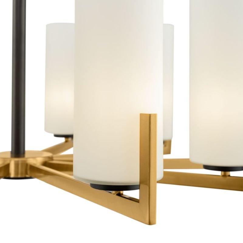 Maytoni-MOD089PL-10BS - Fortano - White Glass & Gold 10 Light Centre Fitting