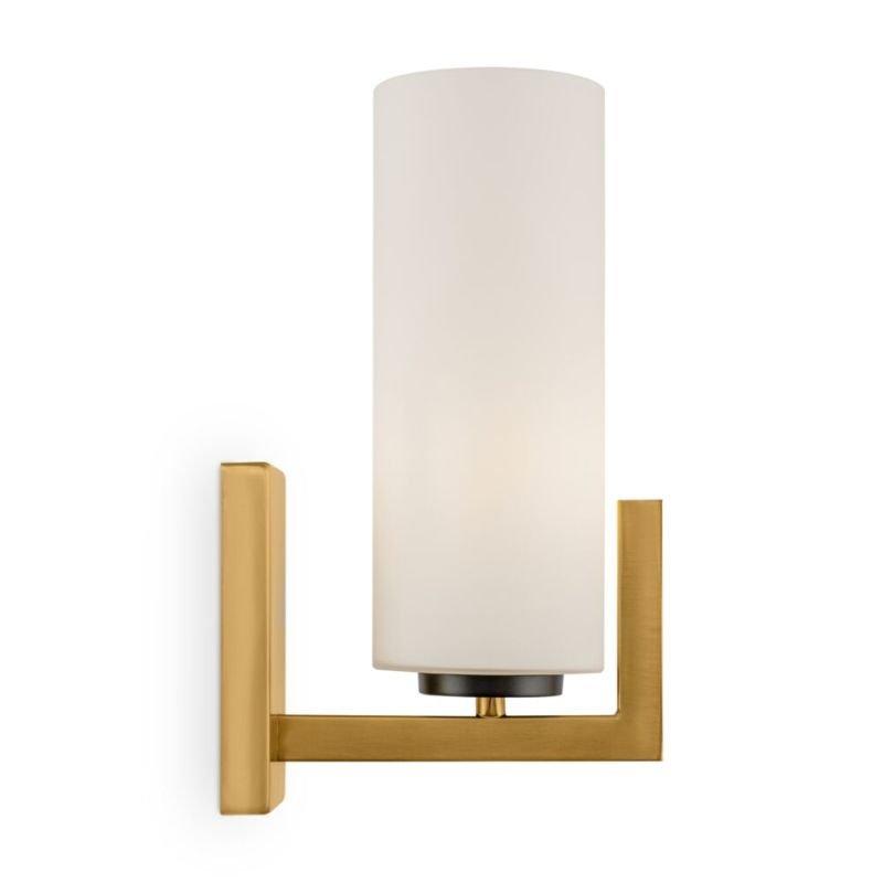 Maytoni-MOD089WL-01BS - Fortano - White Glass & Gold Wall Lamp