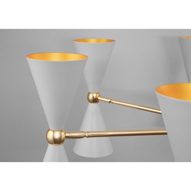 Maytoni-MOD108PL-14WG - Vesper - White & Gold 14 Light Centre Fitting