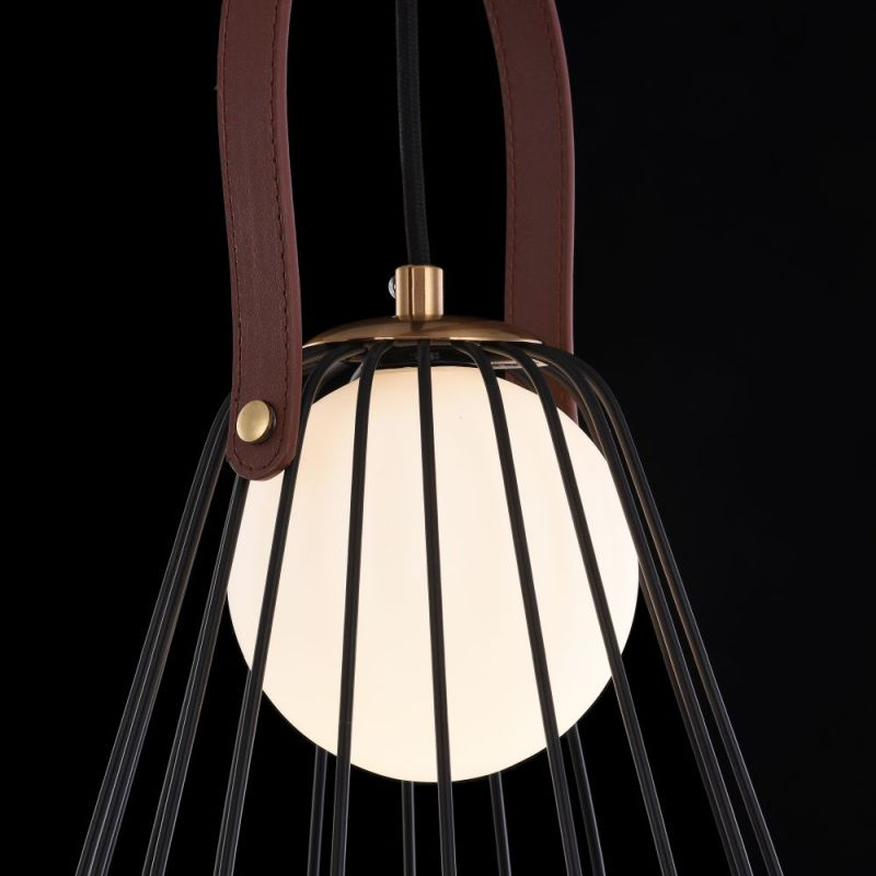 Maytoni-MOD544PL-01B - Indiana - Vintage Black & White Glass Pendant
