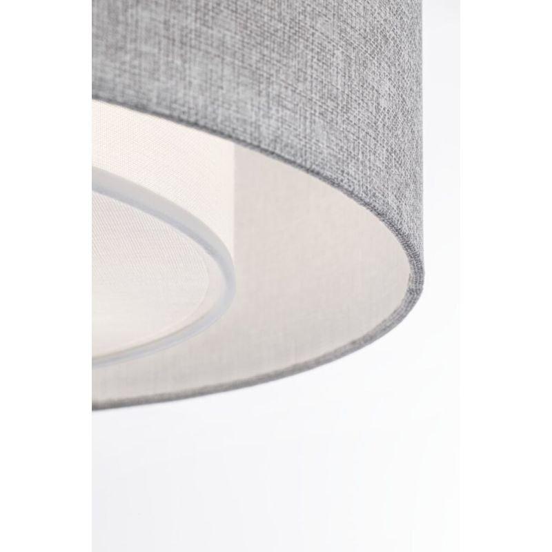 Maytoni-MOD613CL-04GR - Bergamo - Grey Linen with Diffuser Flush