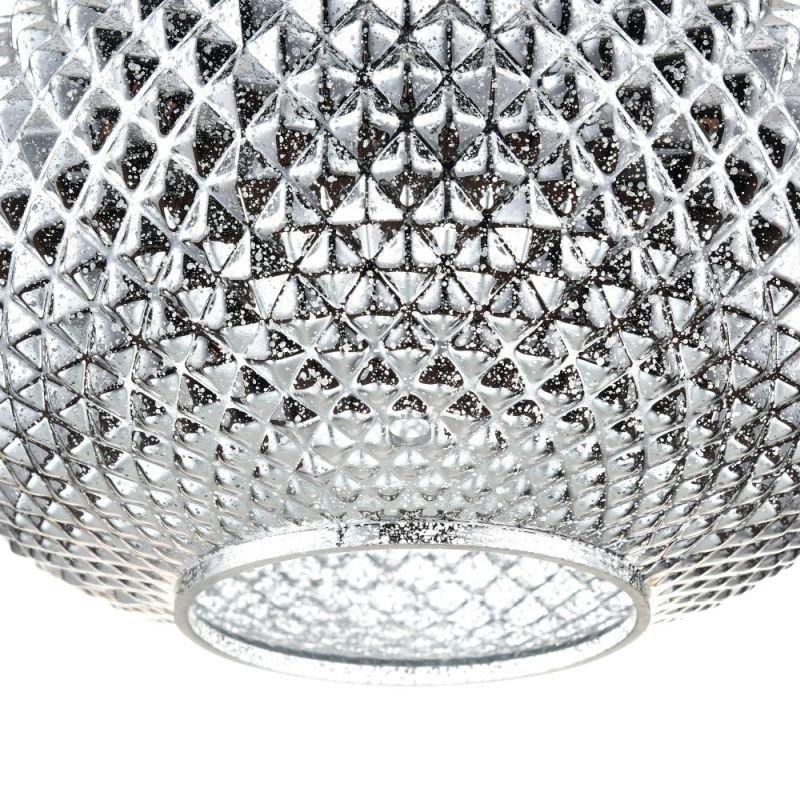 Maytoni-P019-PL-01-N - Moreno - Silver Textured Glass Single Pendant