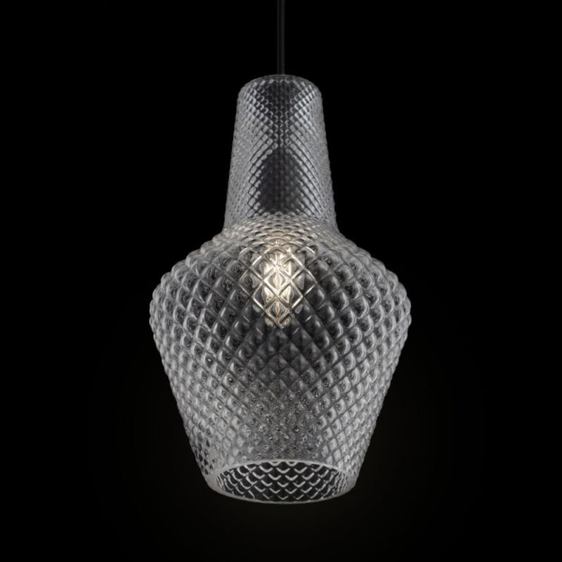 Maytoni-P040PL-01B - Tommy - Clear Textured Glass Small Pendant