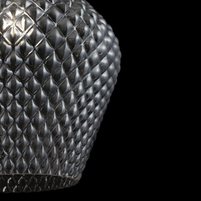 Maytoni-P042PL-01B - Tommy - Smoky Textured Glass Small Pendant