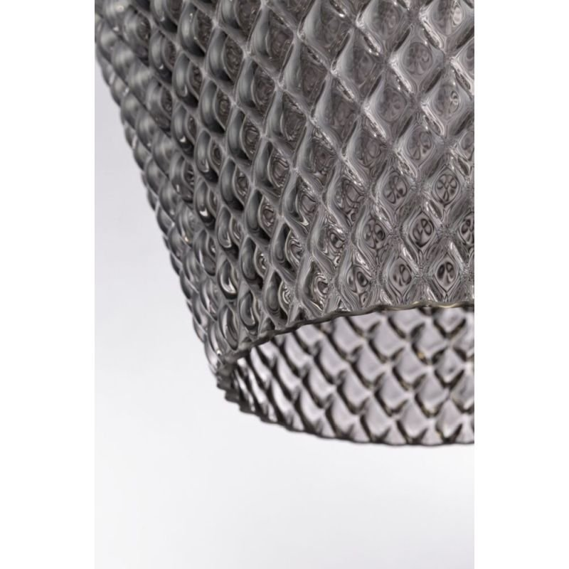 Maytoni-P046PL-01B - Tommy - Smoky Textured Glass Big Pendant