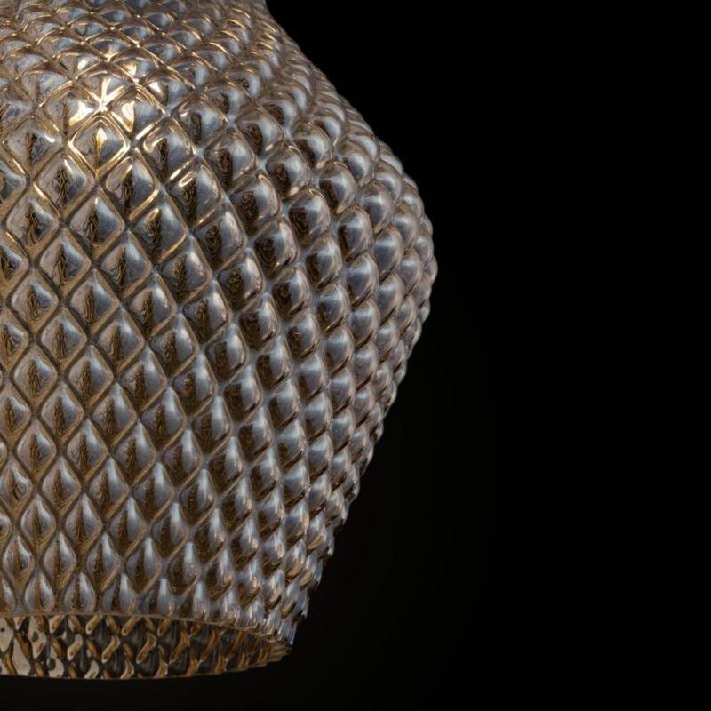 Maytoni-P047PL-01B - Tommy - Amber Textured Glass Big Pendant