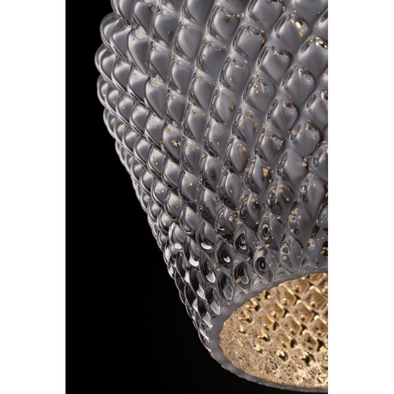 Maytoni-P054PL-01B - Tommy - Silver Textured Glass Big Pendant