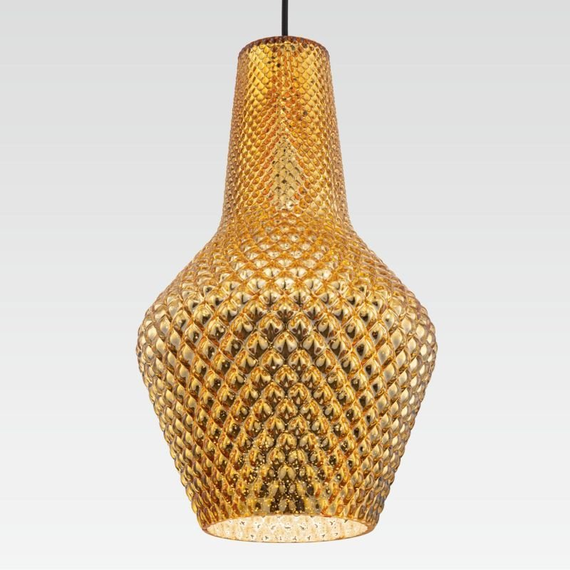Maytoni-P055PL-01B - Tommy - Gold Textured Glass Big Pendant