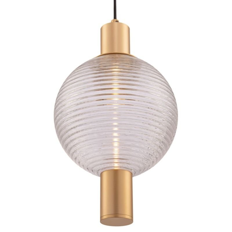Maytoni-P060PL-01BS - Rueca - Decorative Glass & Matt Gold Single Pendant