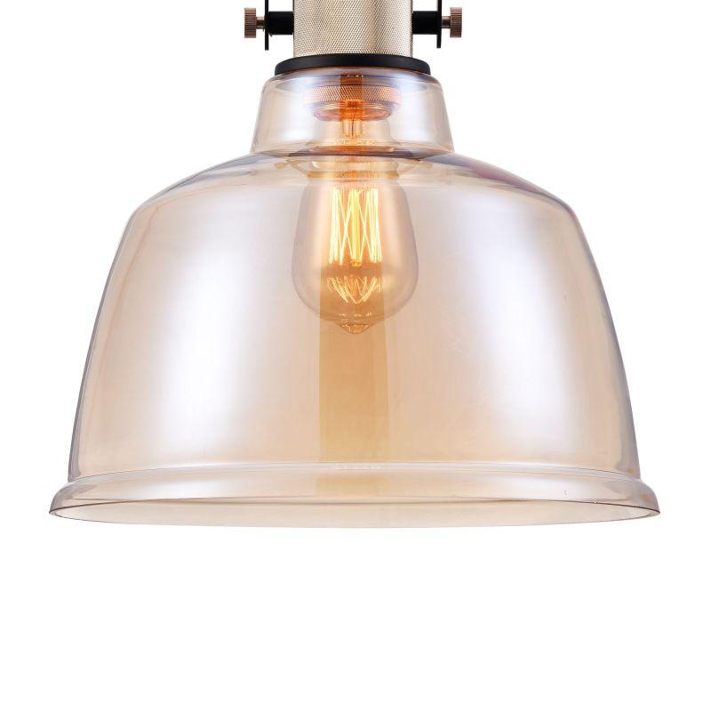 Maytoni-T163PL-01R - Irving - Big Single Pendant with Amber Glass