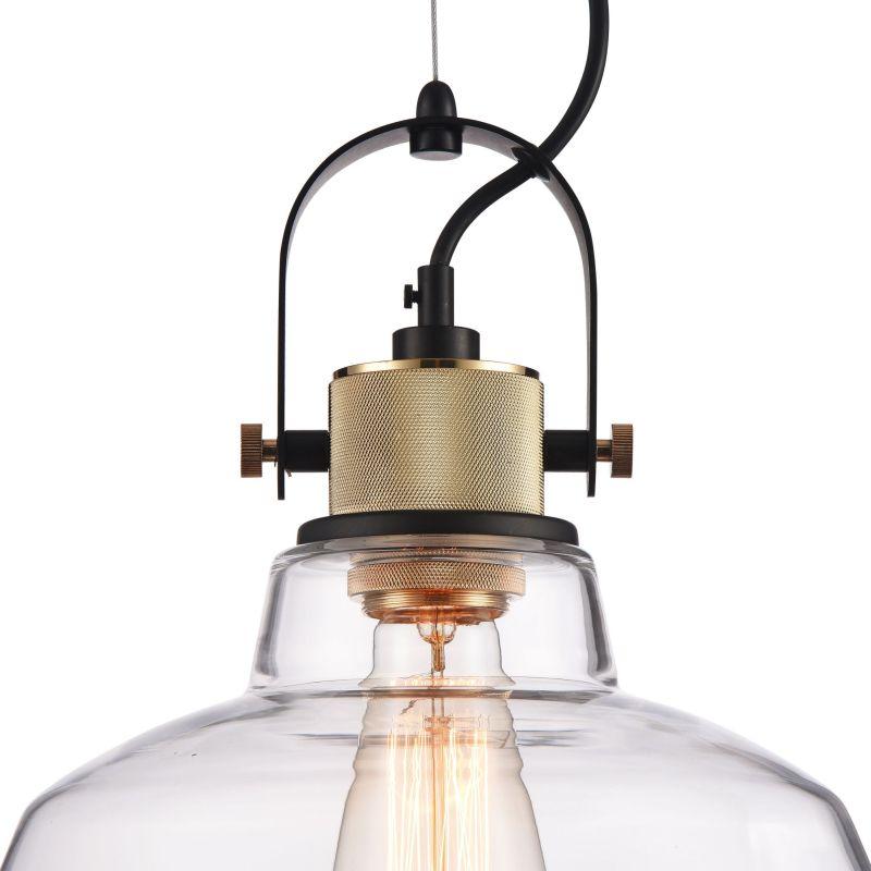 Maytoni-T163PL-01W - Irving - Big Single Pendant with Transparent Glass