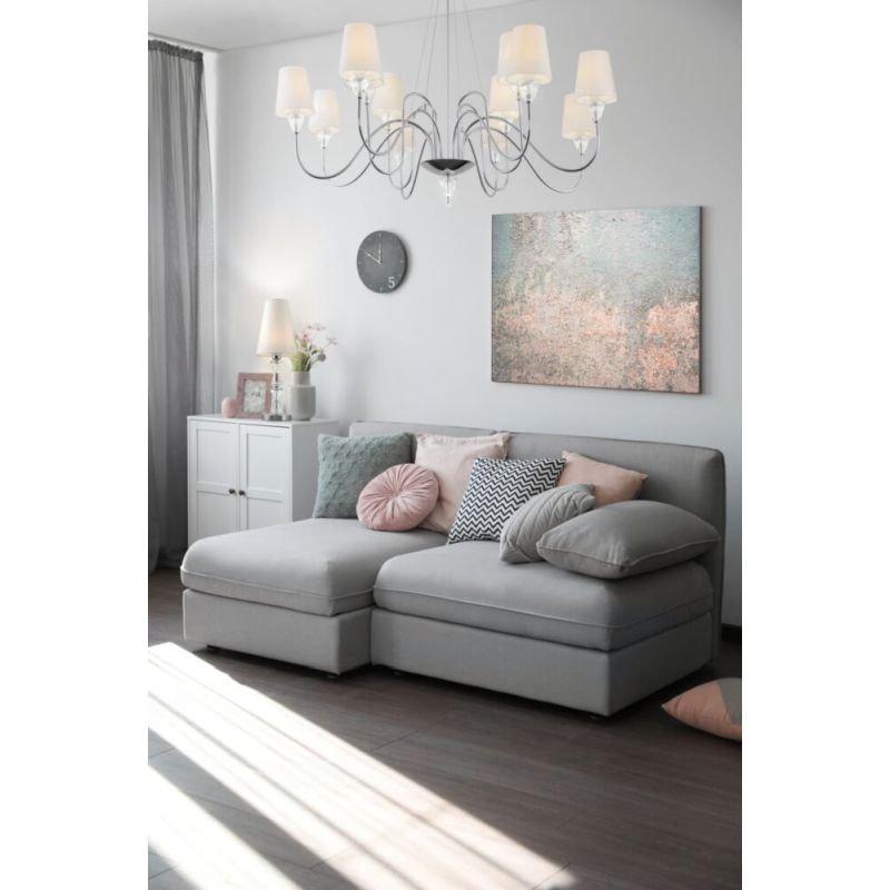 Maytoni-MOD079TL-01CH - Florero - White Fabric Shade & Chrome Big Table Lamp