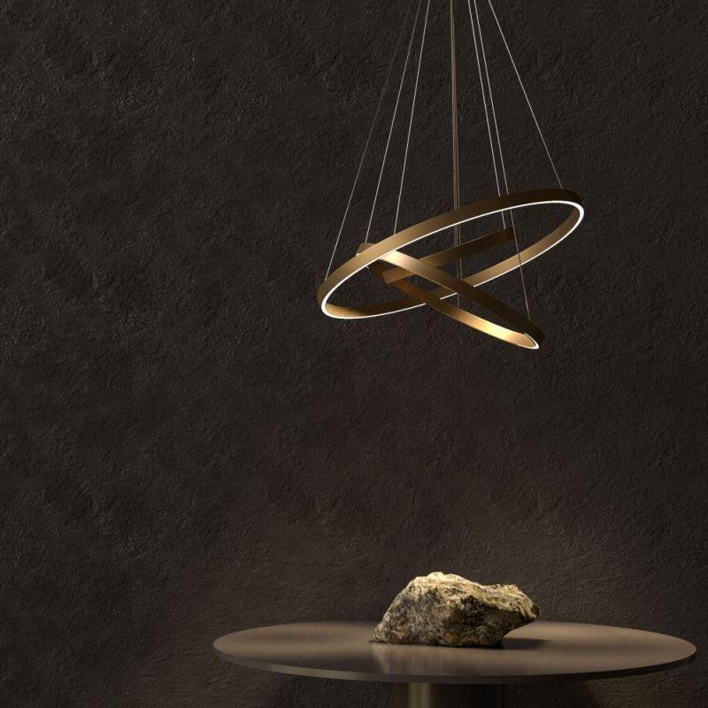 Maytoni-MOD058PL-L100BS4K - Rim - LED Gold 3 Metal Rings Pendant